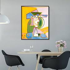 Framed Canvas Bust Of Woman By Pablo Picasso Wall Art Invin Art