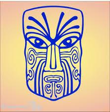 Maori Moko Vinyl Vehicle Sticker Made Using Durable Colourfast Vinyl