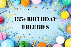 135 birthday freebies free birthday