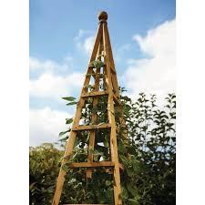 garden tan wooden woodland obelisk