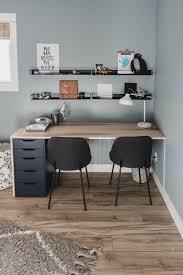 Plywood Diy Double Desk Ikea Hack Lemon Thistle
