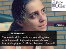 "Testimonial: ""Thank you for all that you... - Polly Klaas Foundation 