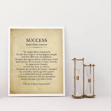 success ralph waldo emerson poem print inspirational quotes
