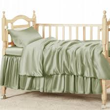 sage green 100 silk crib bedding set