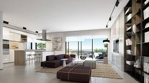 modern open floorplan interior design