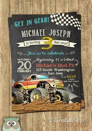 Invitaciones De Cumpleanos De Monster Truck Cumpleanos De