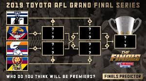 AFL Finals Predictions 2019 - YouTube