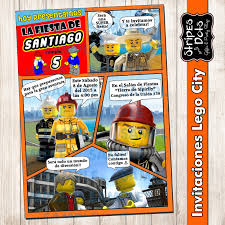 The Childrens Zone Digi Designs Invitaciones De Lego City