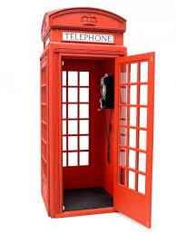 british red telephone box event prop hire