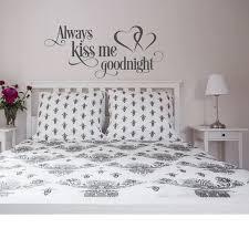 Always Kiss Me Goodnight Wall Decal Bedroom Decor Master Bedroom Wall Sticker Romantic Art Vinyl Decor Family Wall Decals G370 Wall Stickers Aliexpress