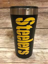 Steelers Tumbler Pittsburgh Steelers Etsy