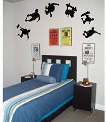 6 Skateboarders Boy Wall Stickers Art Decals Decor Boys Room Decor Amazon Com In 2020 Bedroom Themes Boys Wall Stickers Skateboard Bedroom