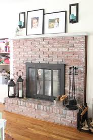 how to whitewash a brick fireplace 8