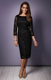katherine lace occasion dress black