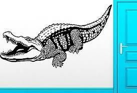 Wall Sticker Vinyl Decal Crocodile Alligator Predator Animal Cool Decor Z2482 Ebay