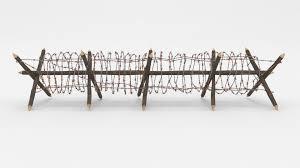 Blender 3d Model Barb Wire Obstacle Cgtrader