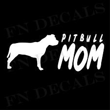 Pit Bull Mom High Quality Vinyl Decal Dog Sticker For Car Truck Wall Laptop Mugs Ebay