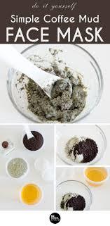 diy simple coffee mud face mask be