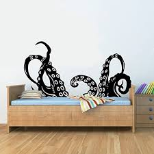 Amazon Com Js Artworks Octopus Tentacles Arms Vinyl Wall Art Decal Sticker Home Kitchen