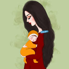 Art Drawing رسم بنات حوامل حامل امي الام طفل اطفال Art
