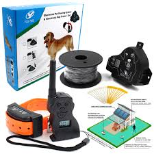 Pet Dog Electric Fence Shock Vibration Sound With Dog Remote Control For Small To Big Dogs Training Collars Fencing System Training Leashes Aliexpress