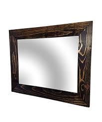 shiplap large wood framed mirror
