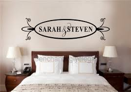 Custom Names Vinyl Decal Wall Stickers Lettering Wedding Bedroom Decor