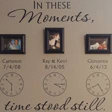 In These Moments Time Stood Still Personalized Wall Decal Etsy