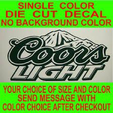 Coors Light Beer Logo Die Cut Vinyl Decal Car Truck Window Laptop Sticker Ebay