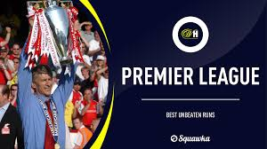 club ranked by their longest unbeaten