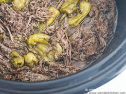 slow cooker pepperoncini beef aka drip