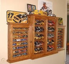 oak nascar display case bo cabinet