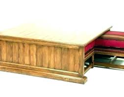 coffee table with nested ottomans