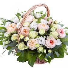 Корзина с французскими розами - Композиция «Ванильная сказка»