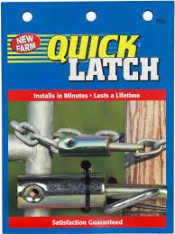 quick latch livestock proof closure for