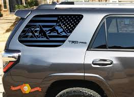 Product Mountain Usa Flag Windshield Decal For 2010 2018 Toyota 4runner Trd Pro Rear Windows Stickers