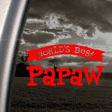 Amazon Com Worlds Best Papaw Red Decal Car Truck Window Red Sticker Books