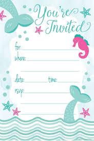 Invitaciones De Sirena Para Fiesta De Cumpleanos Estilo