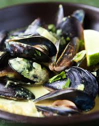Coconut Curry Mussels Recipe ...