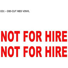Amazon Com Private Not For Hire Vinyl Decal Sticker Car Diesel Truck Trailer Semi 1500 Dot Automotive