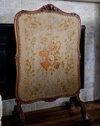 antique fireplace screen cedar hill