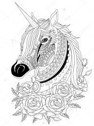 Unicorn Paard Kleurplaat Kleurplaten Paarden Afbeeldingen
