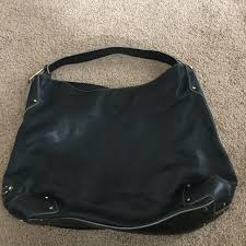 cole haan black leather handbags