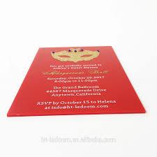 Diseno Unico De 5x7 Pulgadas De Acrilico Rojo Tarjeta De