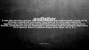 What does godfather mean - YouTube