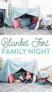 Easy And Fun Blanket Fort Family Night Idea By The Littles Me In 2020 Blanket Fort Blanket Forts Kids Kids Forts