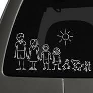 My Family Car Sticker Dezign With A Z