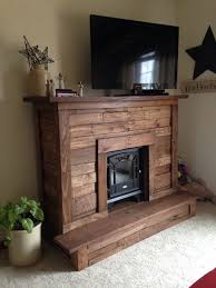 pallet wood faux fireplace for electric