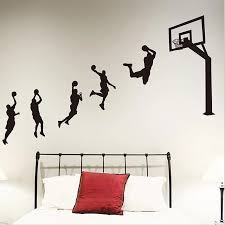 Basketball Players Laup Wall Sticker Vinyl Handmade Wall Decals For Kids Rooms Nursery Decoration Sport Decals For Boy Room H008 Wall Stickers Aliexpress