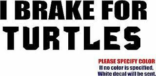 I Brake For Turtles Decal Sticker Jdm Funny Vinyl Car Window Bumper Truck 7 9 99 Picclick